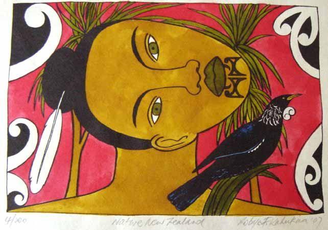 Native New Zealand by Robyn Kahukiwa for Sale - New Zealand Art Prints