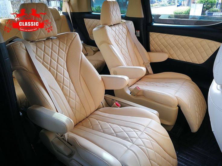 Autoskin by CSL Leather for Toyota Alphard interior, design by Classic Car Leather Seat, Bekasi City #carinterior #semileather #automotive #skin