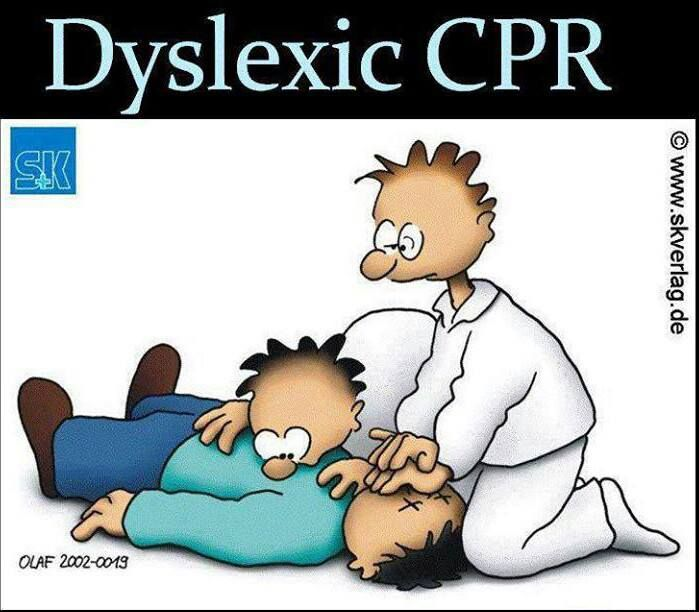 Funny cartoon - Dyslexic CPR - http://jokideo.com/funny-cartoon-dyslexic-cpr/