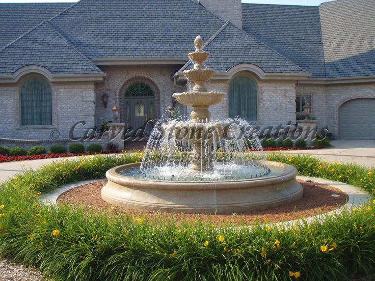 Four Tiered Water Fountain. Stone FountainsWater FountainsFountain  DesignHome ...