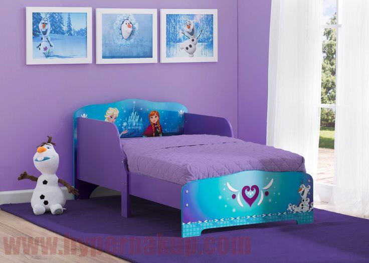 Detská drevená posteľ Disney Frozen