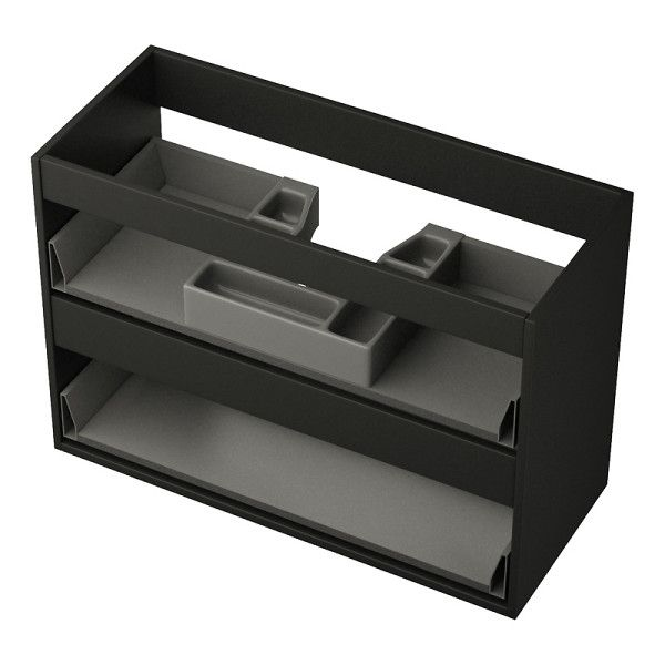 Underskåp utan lådfronter Färdigmonterat (det enda du behöver montera själv är frontpaneler och handtag) underskåp i MDF. Finns i mattlackad vit, svart el