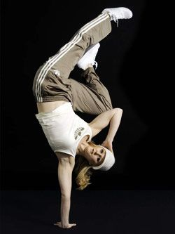 Andrea Parker, one of the best British breakdance performers