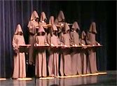 Because silent monks can't sing, this choir of them have to get a little creative when they put on a show. You'll be laughing when you see what they do!