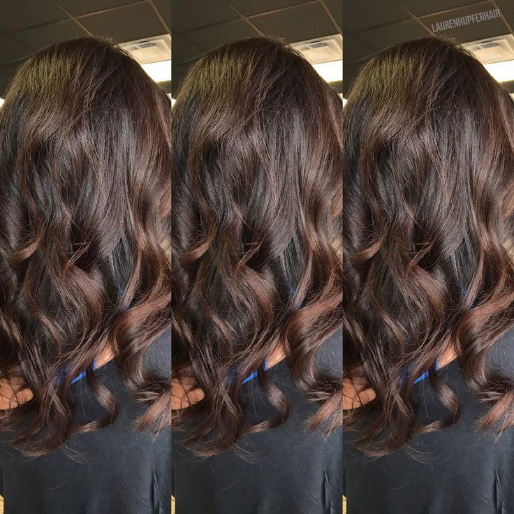 Balayage. Chocolate brown hair. @laurenhupferglamourist #laurenhupferhair