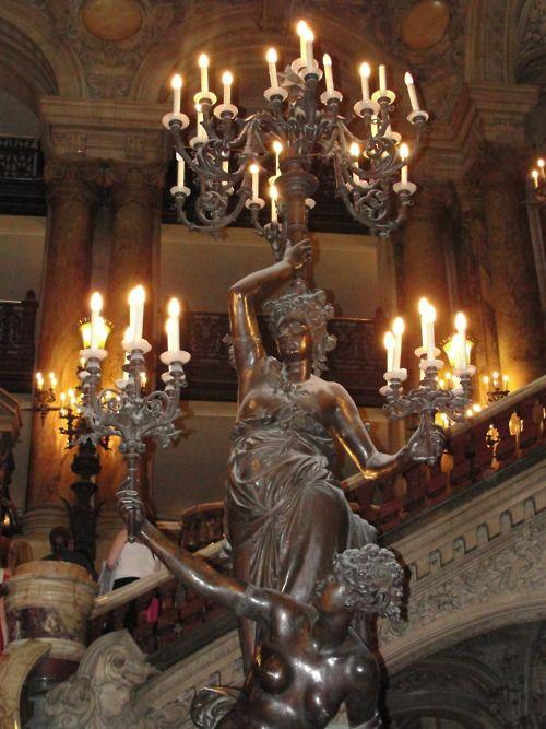 candelabra - Paris opera house the home of the Phantom of the Opera