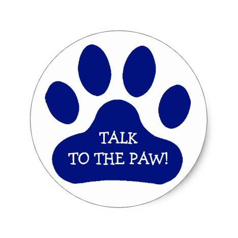 Blue Paw Print Classic Round Sticker Everyone Loves Stickers Both Children And Adults How About