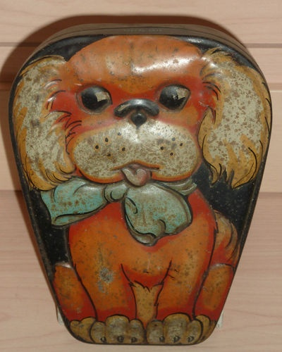 Vintage George Horner Dainty Dinah Confectionery Tin With Cartoon Puppy Dog | eBay