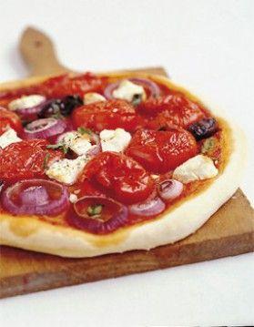 Pizza à la salade grecque | Par ELLE