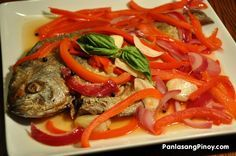 Escabeche is a type of sweet and sour fish recipe.