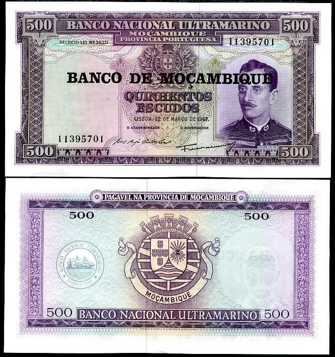 500 escudo, Mozambik