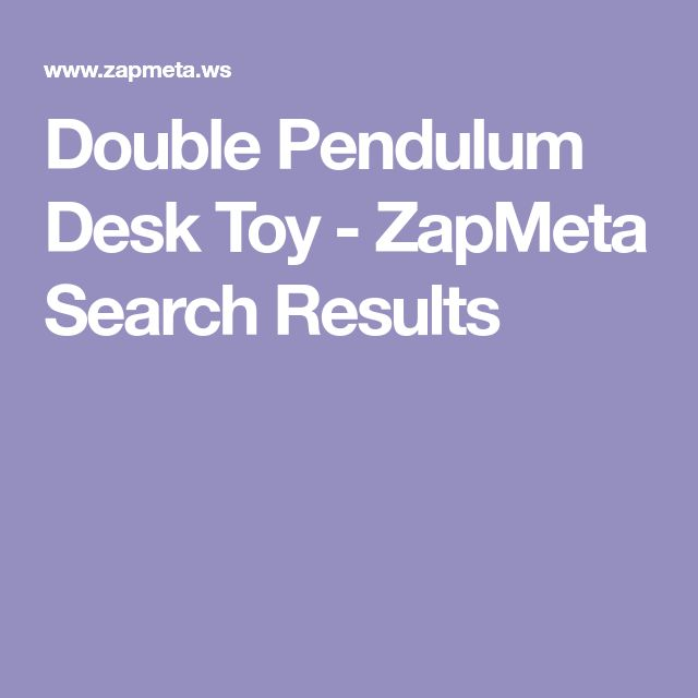 Double Pendulum Desk Toy - ZapMeta Search Results