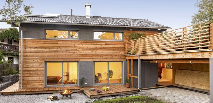 schickes landhaus im modernen alpenstil von regnauer hausbau traumhaus pinterest hausbau. Black Bedroom Furniture Sets. Home Design Ideas
