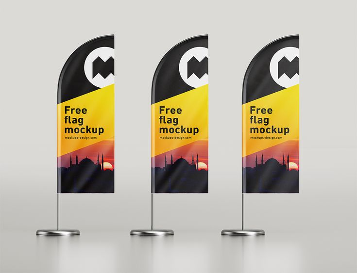 Feather Flag Mockup Free Free Mockup In 2021 Feather Flags Sign Mockup Free Mockup