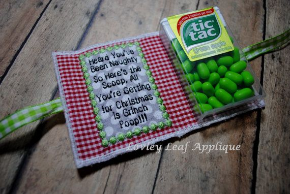 Grinch Poop/Pill Mint Holder ITH Applique by LovelyLeafApplique
