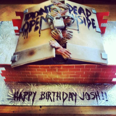 14 Sweet Geeky Cakes That You Won't Want to Eat - Don't Open Dead Inside #TheWalkingDead #geekcakes