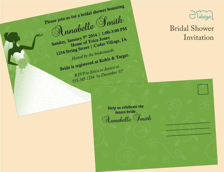 affordable bridal shower invitation by emdesign