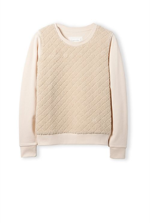 Faux Shearling Sweat - Country Road