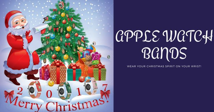Deck the halls with boughs of holly and your wrist with these fun festive Apple Watch Bands and show off your Christmassy spirit this holiday season.