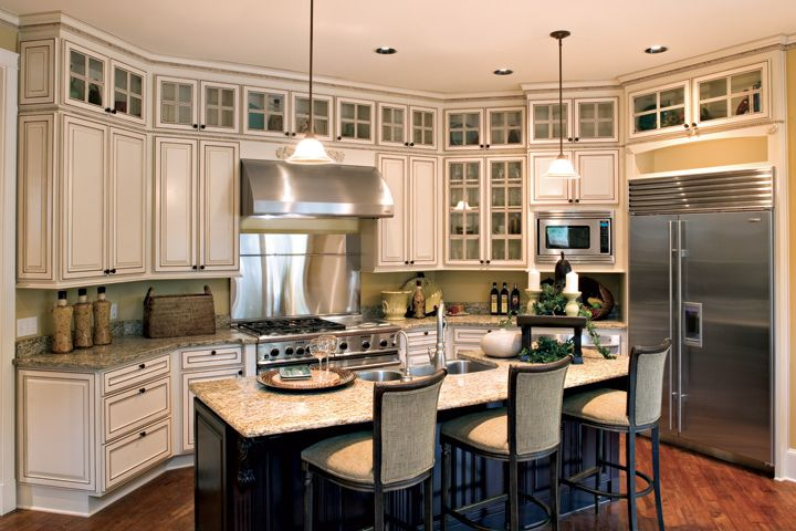 17 best images about kitchens with glass mullion doors on for Cherry kitchen cabinets with glass doors