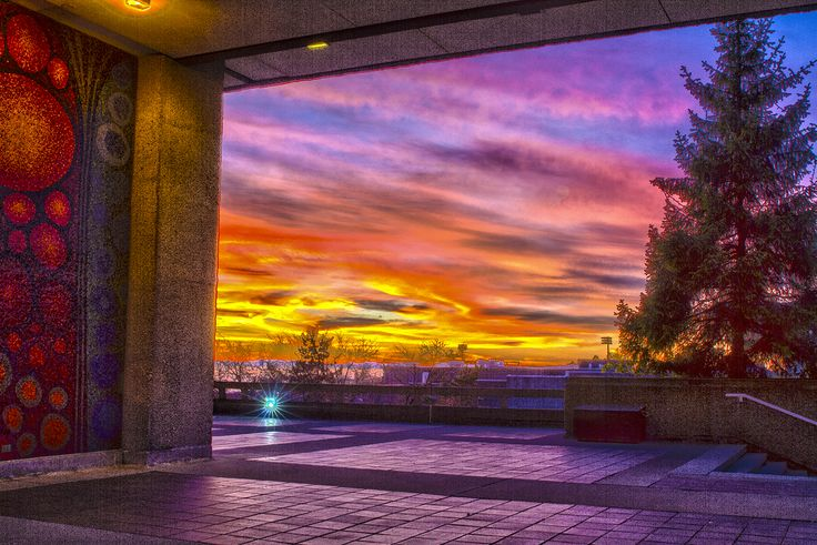 Vancouver // Sunset at Simon Fraser University // HDR at SFU // Image by Ray Urner // www.rayurner.com