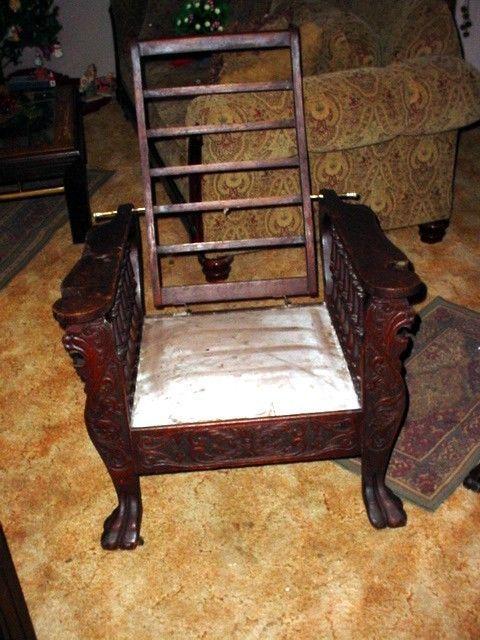 Beautiful Oak Antique Morris Chair Louis Schaefer Phila. Pa. Good cond. LOOK - 119 Best Antique Morris Chairs Images On Pinterest Ali, Antique