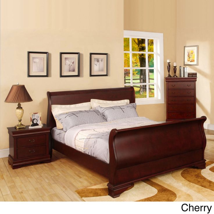Furniture of America Bravo Smooth Transitional Sleigh Bed | Overstock.com Shopping - The Best Deals on Beds