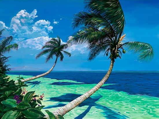 Beckoning Palms by Scott Westmoreland! Our February featured artist of the month!