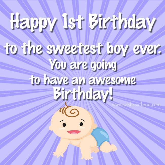 Happy 1st Birthday Wishes For Baby Girls And Boys With Images