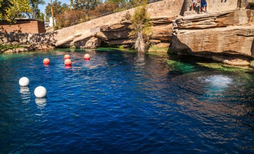 Refreshing natural, fresh water deep pools right off our route! | Roadtrippers