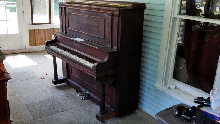 Ellington Upright Cincinati Upright Grand Piano Serial #18726 Triple bearing