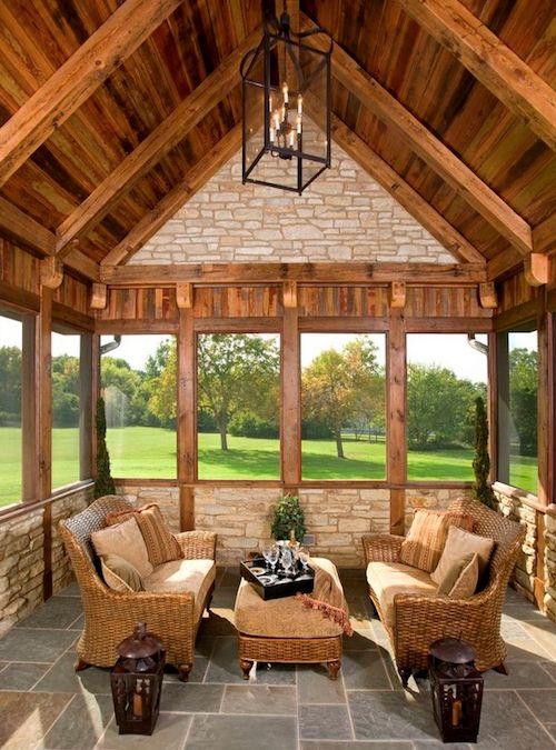 53 best Indoor Porches We Love images on Pinterest | Front porches ...