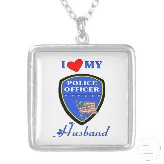 I Love My Police Husband Necklace