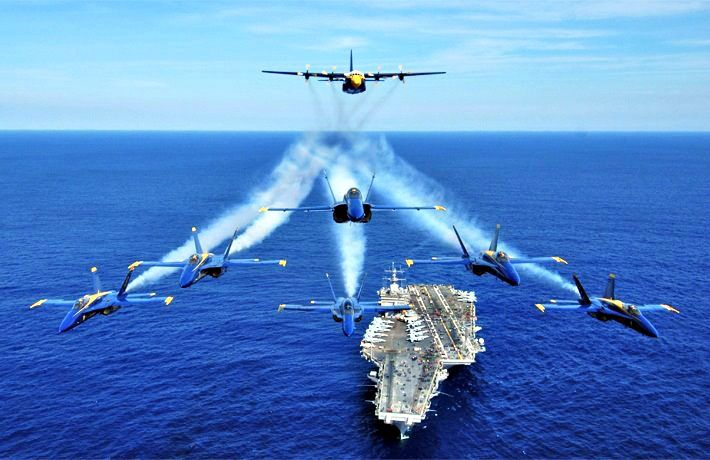 The Navy's Blue Angels put on another show.