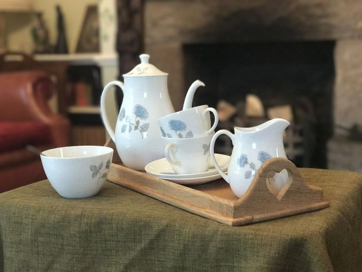 Beautiful handmade tea for two tray.