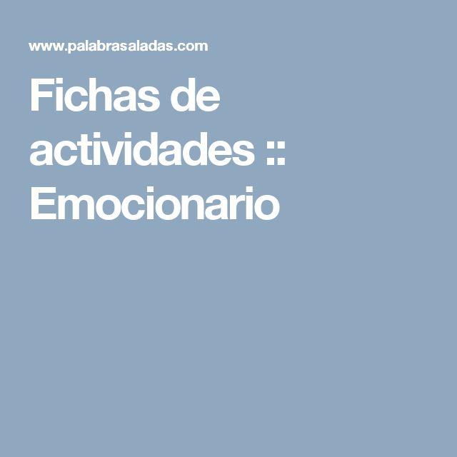 Fichas de actividades :: Emocionario