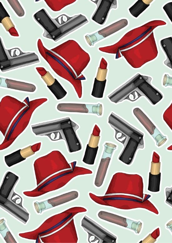 Peggy Carter Pattern Art Print