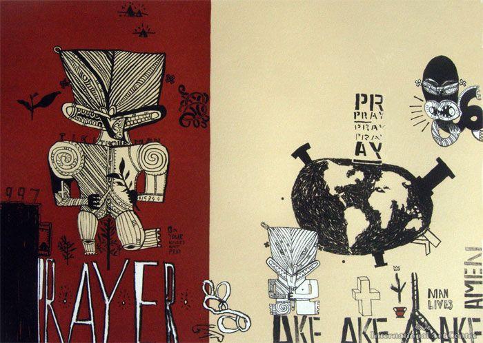 Prayer Tiki -- Shane Cotton NZ Artist