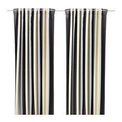IKEA PRAKTLILJA block-out curtains, 1 pair