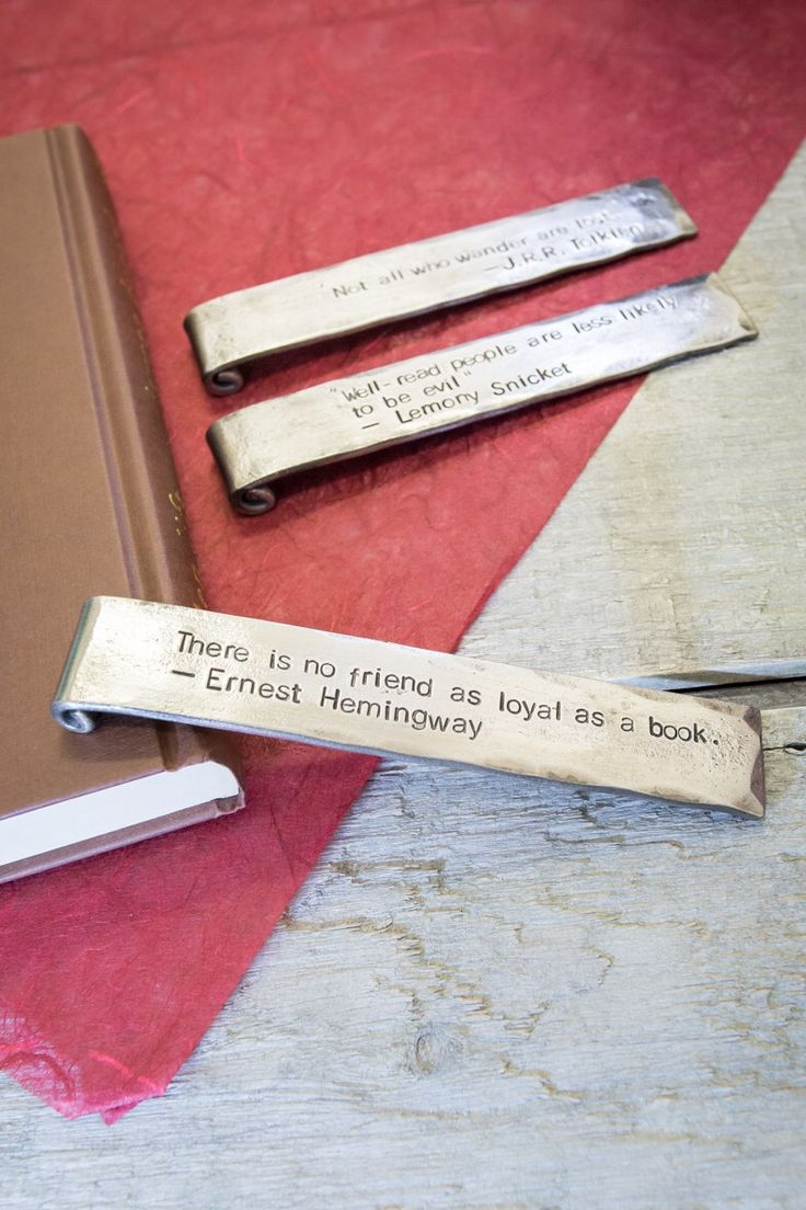 Personalised Bookmark with Hand Stamped Message Perfect Gift for Book Lovers