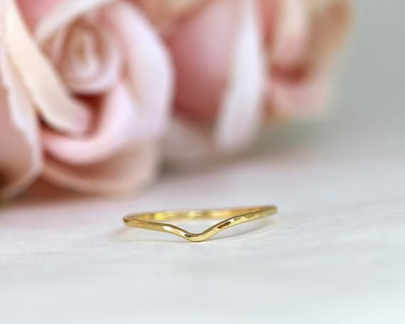 V Gold Ring 14k White Gold Ring,Twig Ring Thin Gold Wedding Ring Chevron Ring 14k jewelry Gold Stacking Ring Branch Ring Natural Ring