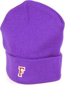 beanie purple, patch, F-Logo, varsity Shop now // www.flatkicks.com