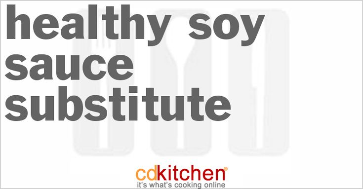 Healthy Soy Sauce Substitute from CDKitchen.com