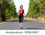 Girl Running In The Park. Active Woman Running. A Confident Female Runner Has The Stamina To Conquer All. Stock Photo 57975871 : Shutterstock