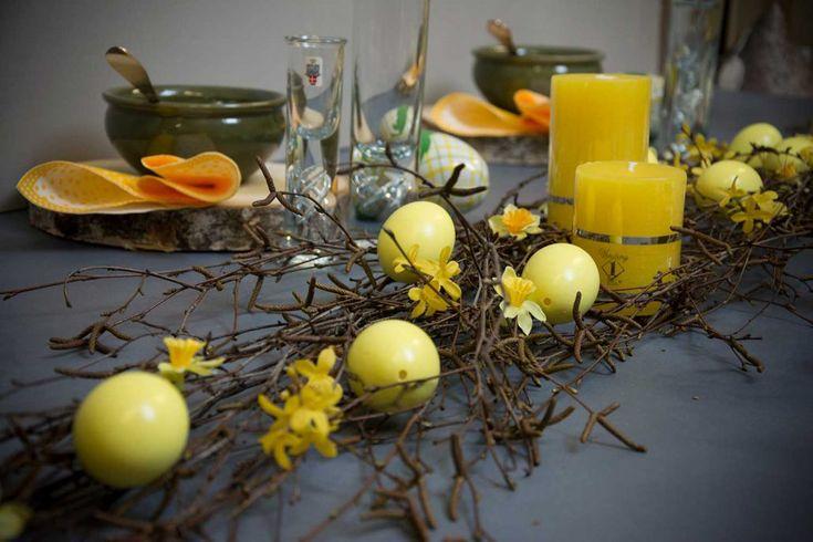 Inspiration til et flot dækket påskebord 2017 - find flot bordpynt til påske