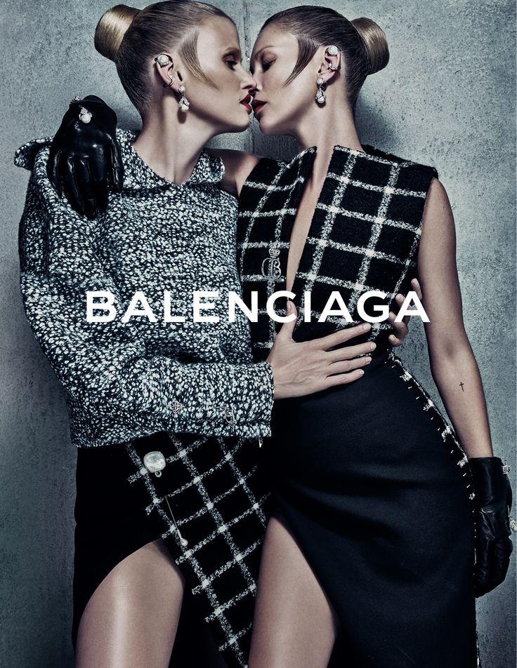 Balenciaga FALL WINTER 2015 Campaign | Image #4 | Photographer: Steven Klein | Models : Kate Moss & Lara Stone | www.balenciaga.com