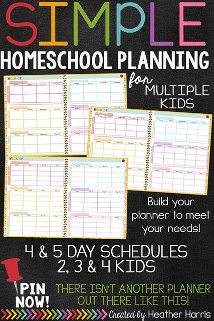 The BEST Homeschool Planner - Teaching My 3 | CurrClick