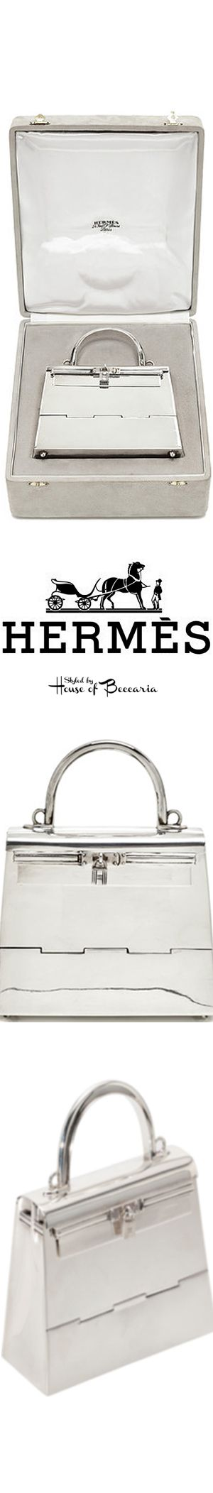 ~Rare Hermès 15cm Sterling Silver Mini Kelly named for the former Princess of the silver screen, and of Monaco, Grace Kelly. Heritage Auction's opening bid, $24,000 | House of Beccaria
