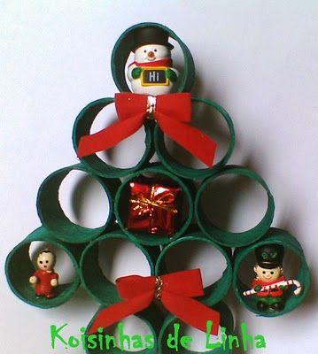 Koisinhas de linha: Enfeites de Natal