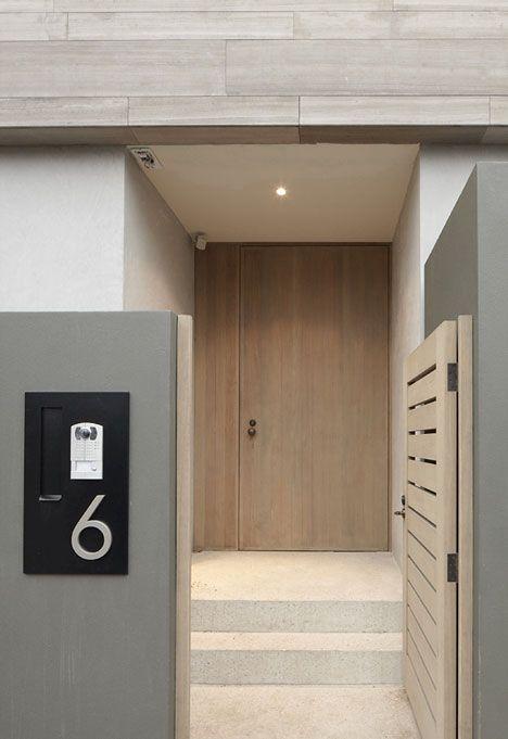Simple contemporary modern entrance